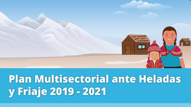 Plan Multisectorial ante Heladas y Friaje actualizado 2020