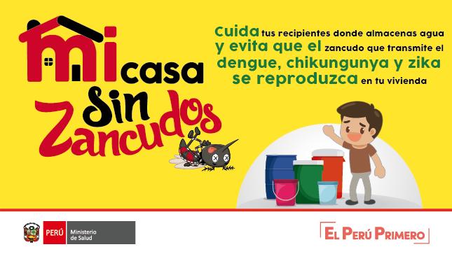 El Ministerio de Salud impulsa políticas nacionales que priorizan la prevención y control del dengue, zika y chikungunya, debido a la alta incidencia de casos de dengue en nuestro país y la aparición de casos de chikungunya y zika en países vecinos y en el nuestro en los últimos años. Todas las personas que identifiquen uno o más signos y síntomas deben acudir al establecimiento de salud más cercano.
