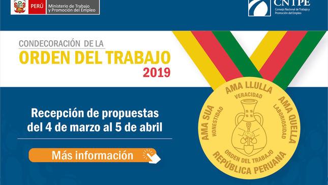 Ver campaña Condecoración de la Orden del Trabajo (COT)