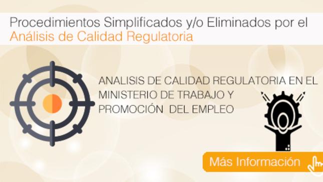 Ver campaña Análisis de Calidad Regulatoria en el Ministerio de Trabajo y Promoción del Empleo