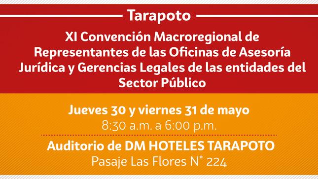 Ver campaña XI Convención Macroregional de Representantes de las Oficinas de Asesoría Jurídica y Gerencias Legales de las entidades del Sector Público