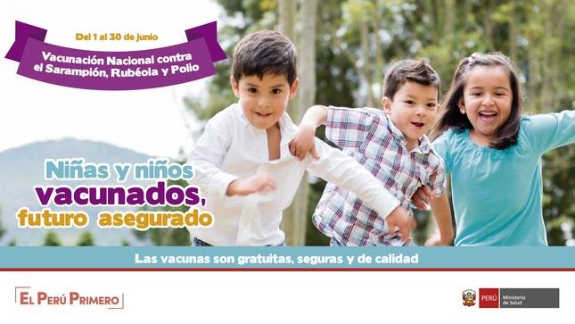 """Ver campaña """"Niños y Niñas Vacunados, Futuro Asegurado"""""""