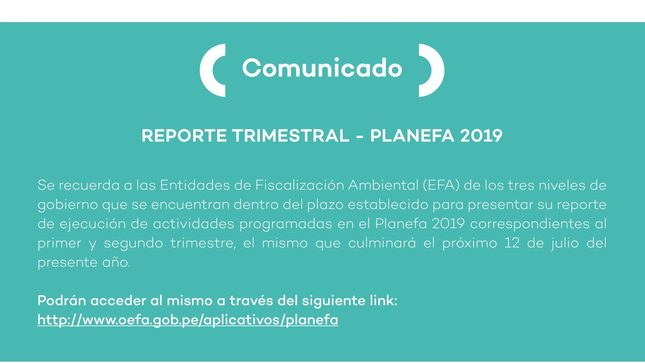 Ver campaña Reporte trimestral - Planefa 2019