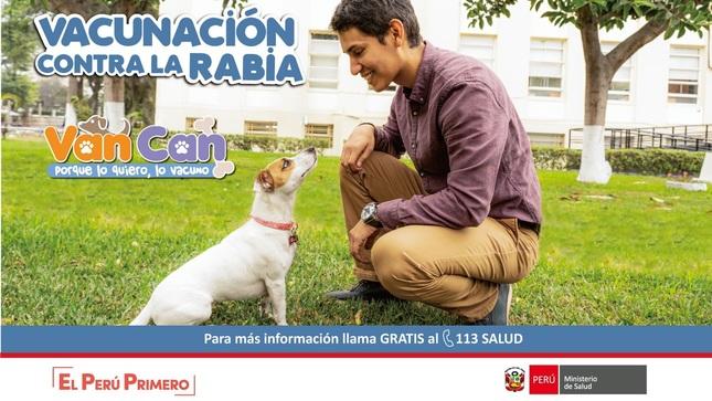Ver campaña Campaña Nacional de Vacunación Antirrábica Canina VANCAN 2019: Porque lo quiero, lo vacuno