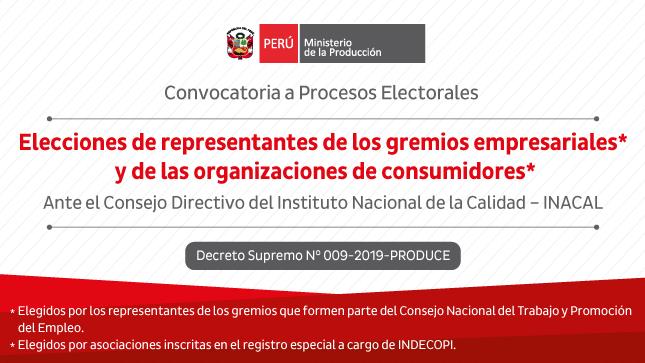 Ver campaña Elección de representantes de los gremios empresariales y de las organizaciones de consumidores