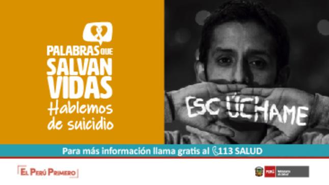 Ver campaña Palabras que salvan vidas. Hablemos de suicidio