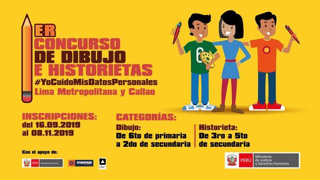 Ver campaña 1er Concurso de Dibujo e Historietas  #YoCuidoMisDatosPersonales
