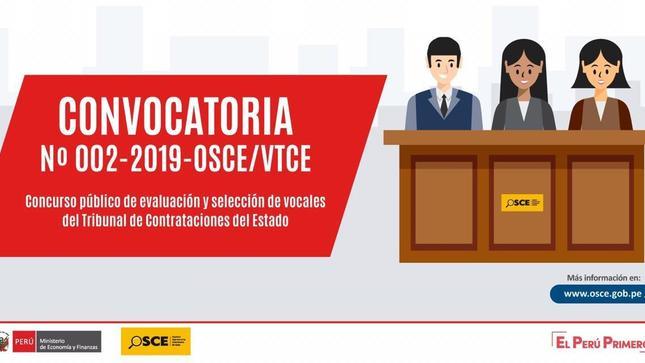 Ver campaña Convocatoria concurso público de evaluación y selección de Vocales del Tribunal de Contrataciones del Estado