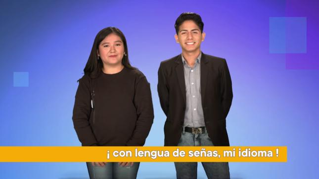 Ver campaña ¡La lengua de señas también es nuestro idioma!