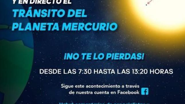 Ver campaña Instituto Geofísico del Perú transmitirá en vivo el tránsito del planeta Mercurio a través de sus redes sociales