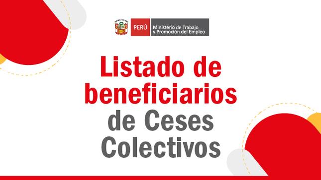 Ver campaña Listado de beneficiarios para el pago de Ceses Colectivos