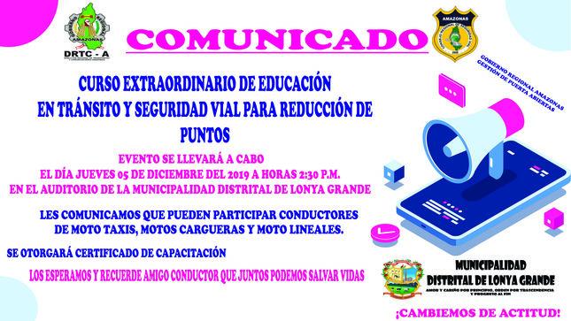 Ver campaña CURSO DE EXTRAORDINARIO DE EDUCACIÓN EN TRÁNSITO Y SEGURIDAD VIAL