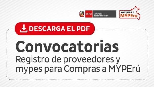 Ver campaña Compras a MYPErú: Aviso de Convocatoria