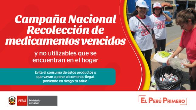 Ver campaña Campaña nacional de recolección de medicamentos vencidos y no utilizables del hogar