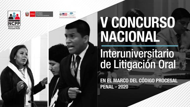 Ver campaña V CONCURSO NACIONAL INTERUNIVERSITARIO DE LITIGACIÓN ORAL