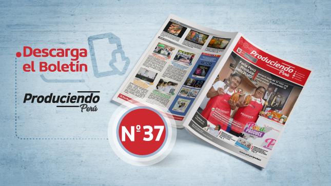 Ver campaña Descarga el boletín informativo Produciendo Perú - Edición n.º 37