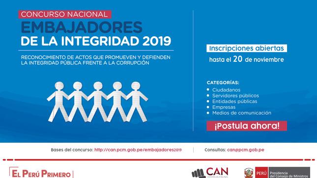 Ver campaña Embajadores de la Integridad 2019