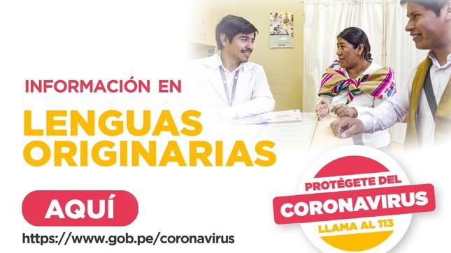 Ver campaña Acciones contra el coronavirus | Lenguas Originarias