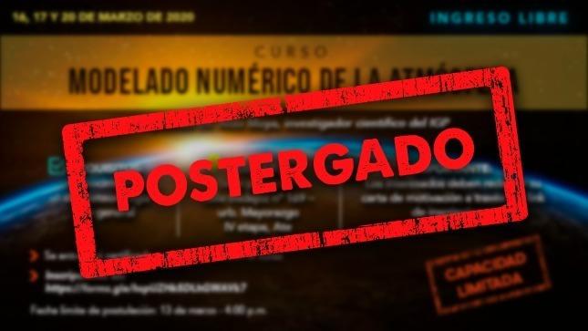 """Ver campaña IGP informa de postergación de curso:  """"Modelado Numérico de la Atmósfera"""""""