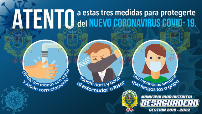 Ver campaña ATENTO A ESTAS TRES MEDIDAS PARA PROTEGERTE DEL COVID-19