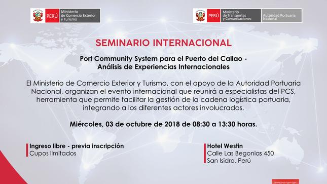 Ver campaña Seminario Internacional del Portal Community System para el puerto del Callao