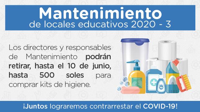 Ver campaña MANTENIMIENTO DE LOCALES EDUCATIVOS 2020-3