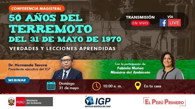 Ver campaña IGP conmemora los 50 años del terremoto del 31 de mayo de 1970
