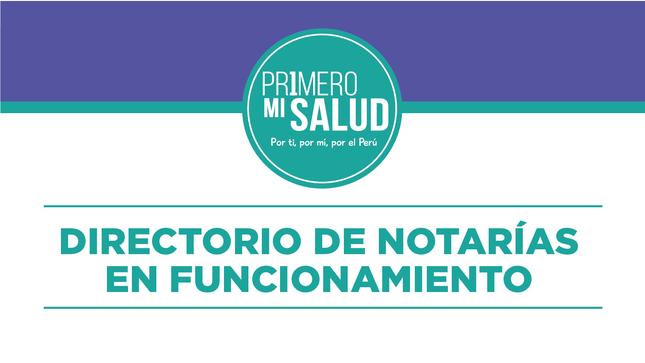 Ver campaña DIRECTORIO DE NOTARÍAS EN FUNCIONAMIENTO