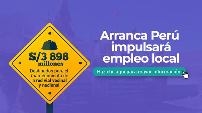 Ver campaña Arranca Perú para municipalidades
