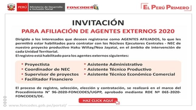 Ver campaña Invitación para Afiliación de Agentes Externos