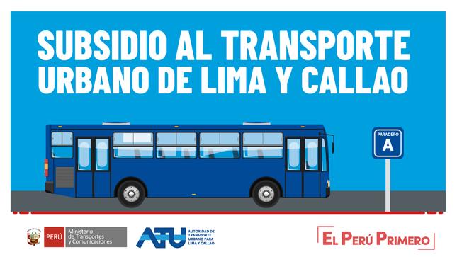 Ver campaña Subsidio al transporte urbano de Lima y Callao