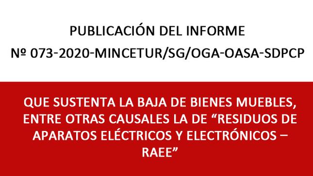 """Ver campaña Baja de Bienes Muebles por la Causal de  """"Residuos de Aparatos Eléctricos y Electrónicos – RAEE"""""""