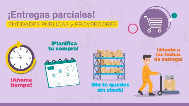 Ver campaña Las entidades del estado podrán realizar contrataciones con entregas parciales
