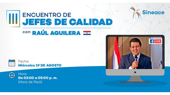 """Ver campaña III Encuentro de Jefes de Calidad 2020 """"Evaluación de las competencias en entornos no presenciales"""" (Ponencia del Dr. Raúl Aguilera Méndez)"""