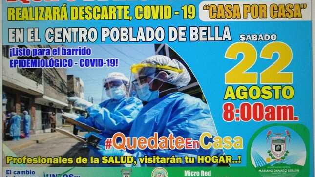 """Ver campaña CAMPAÑA DE DESCARTE DEL COVID-19 CON PRUEBAS RÁPIDA (ERR) """"C.P BELLA"""""""""""