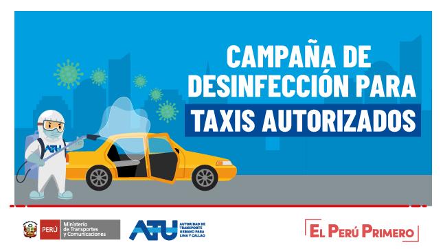 Ver campaña Campaña de desinfección para taxis autorizados