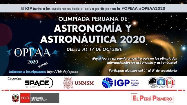 Ver campaña El IGP invita a escolares a participar en Olimpiadas Peruanas de Astronomía y Astronáutica 2020