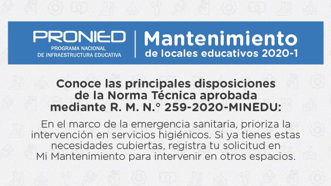 Ver campaña Mantenimiento de locales educativos 2020-1
