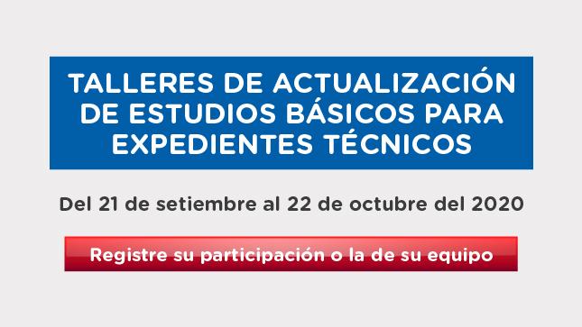 Ver campaña Talleres de actualización de estudios básicos para expedientes técnicos