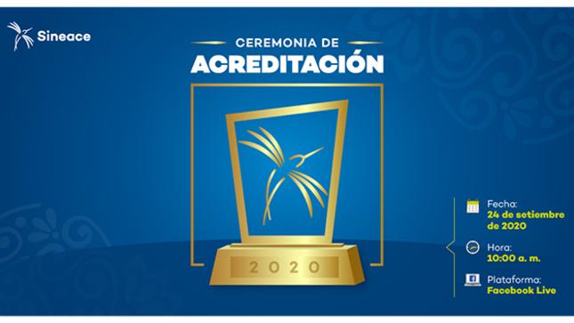 Ceremonia de Acreditación 2020 del Sineace