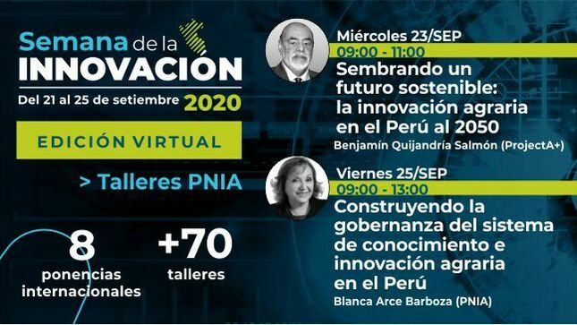 Ver campaña Semana Nacional de la Innovación 2020: Talleres PNIA