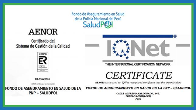 Ver campaña SALUDPOL obtiene Certificado del Sistema de Gestión de la Calidad ISO 9001:2015