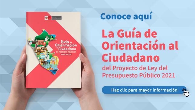 Ver campaña Guía de Orientación del Ciudadano del Proyecto de Ley del Presupuesto Público 2021