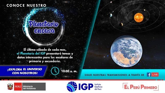 Ver campaña El IGP presenta su Planetario en Casa