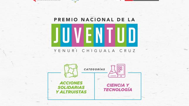 """Ver campaña Convocatoria y difusión del """"Premio Nacional de la Juventud """"Yenuri Chiguala Cruz 2020"""""""