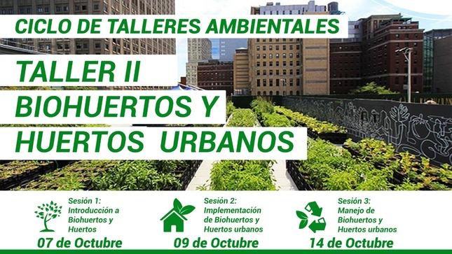 """Ver campaña """"PRIMER CICLO DE TALLERES AMBIENTALES"""": TALLER II BIOHUERTOS Y HUERTOS URBANOS"""