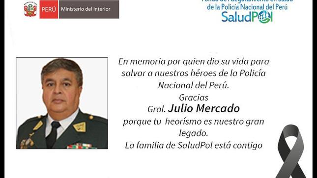 Ver campaña Tu heroísmo, es nuestro legado, descansa en paz Gral. Julio Mercado.