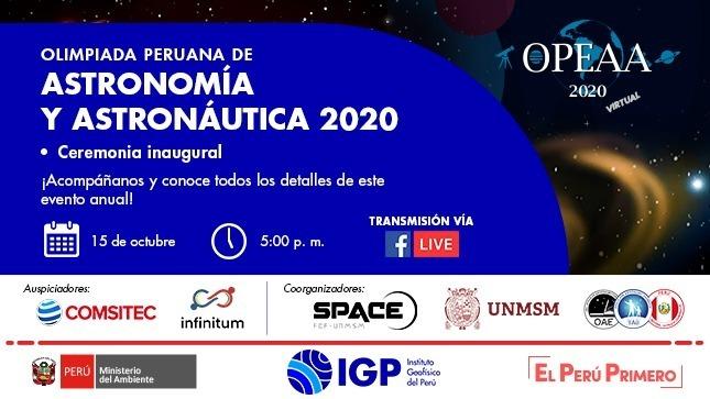 El IGP inaugurará Olimpiadas Peruanas de Astronomía y Astronáutica 2020