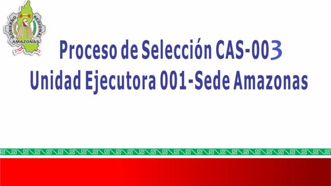 Ver campaña Convocatoria CAS 03-2020 Sede Central
