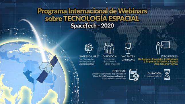 Ver campaña Programa internacional de Webinars sobre Tecnología Espacial - SpaceTech 2020